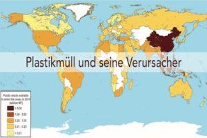 Plastikmuell Übersicht Weltkarte