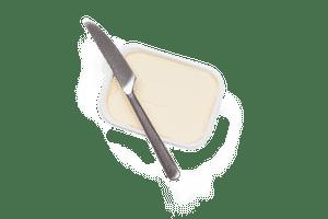 Butter in Plastik Kunststoff Lebensmittelverpackungen