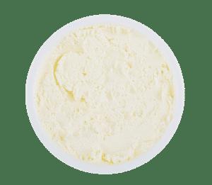 Frischkäse in runder Plastik Verpackung
