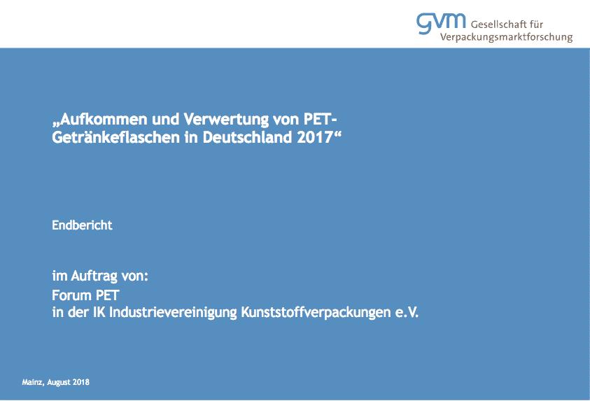 GVM Studie PET Flaschen Deutschland 2017