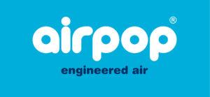 Airpop Logo Weiss Hellblau 2