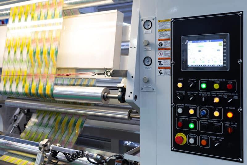 Plastikfolie auf Produktionsmaschine