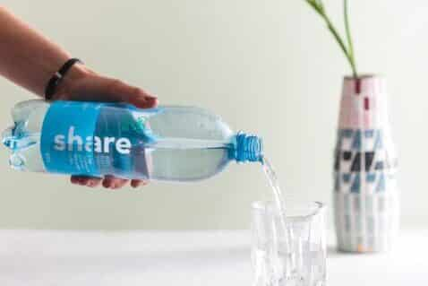Share Wasserflasche Recycling