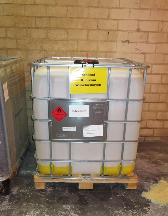Vynova Corona Lagerung Ethanol Klinikum WHV