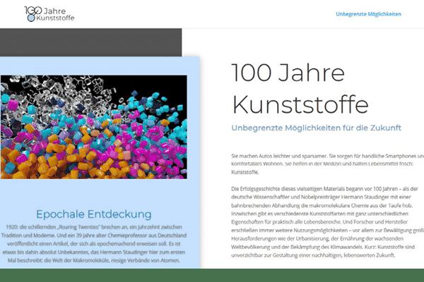 Beitragsbild 100 Jahre Kunststoffenststoffe