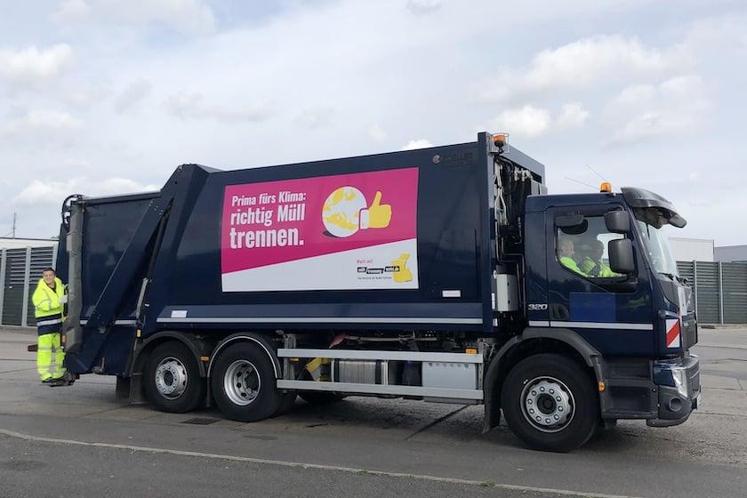 Müllwagen Muelltrennung Wirkt