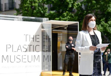 Alicia Martin, PlasticsEurope Iberica at the inauguration of the Plastic Museum in Madrid
