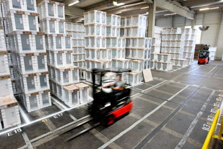 BHS Dillingen Logistik der Styropor-Verpackungen
