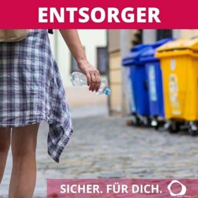 Kunststoff verpackung und Muell in Urlaub und Ferien - Müll richtig Entsorgen und Recycling