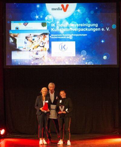 Media V-Award Beste Website Fuer IK Industrievereinignung Kunststoffverpackungen, PlasticsEurope Und Fink Fuchs Foto SWernz