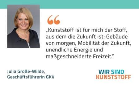 Zitat Julia Grosse-Wilde GKV Gesmatverband Kunststoffverarbeitende Industrie